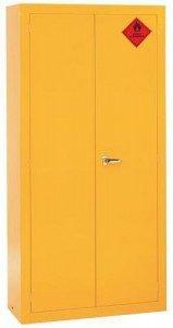 Yellow COSHH Cabinet 159x300mm