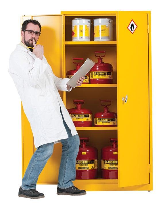 How to store hazardous substances