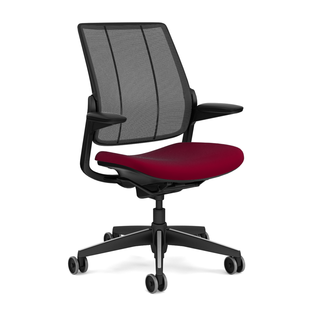 Humanscale Diffrient Smart Chair with Red Seat