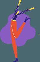 Manutan Jumping Girl