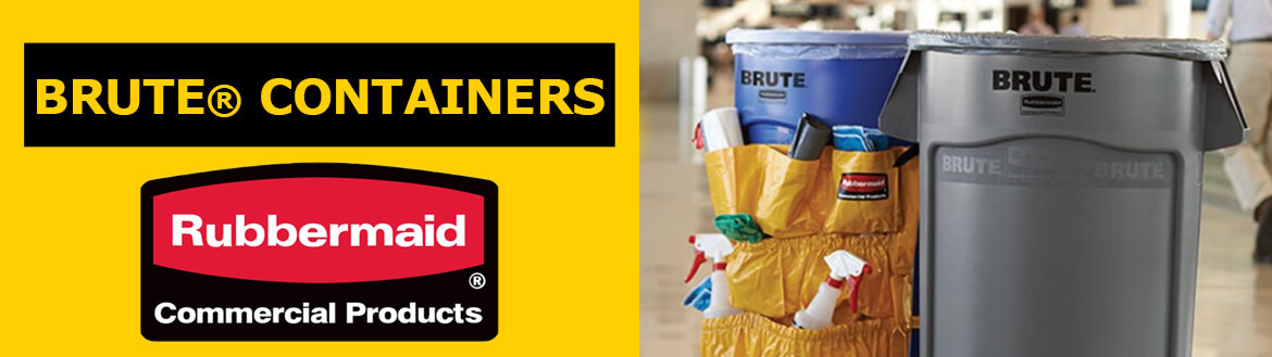 rubbermaid Brute Containers Banner