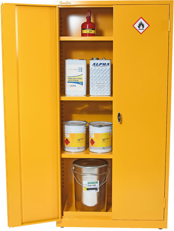 COSHH Flammable Material Storage Cabinet - 1815x915mm - 188G200 - yellow