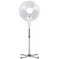 plastic pedestal fan
