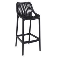 Black Spring Bar Stool