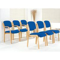 Stack chairs in a row for comfortable meeting room seating