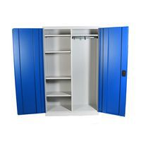 Large Volume Cupboard with hanging rail for workwear