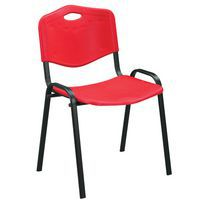 Red Plastic Stacking Conference Chairs