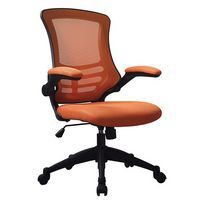 Orange mesh chair for the office