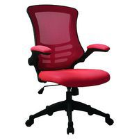 Mesh design office chair in red with black frame