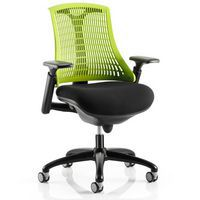Orion Mesh Back Office Green with Black Frame