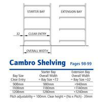 Cambro Shelving Technical Drawing