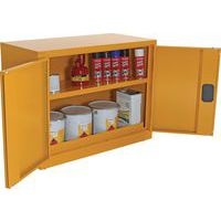 Open Doors With Items Inside Flammable Storage Cabinet COSHH - 700x915mm