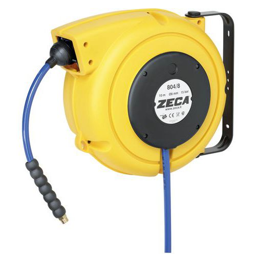 Zeca plastic hose reel for compressed air and water 10m