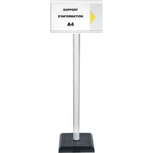 Post with A4 PVC information panel - Premium