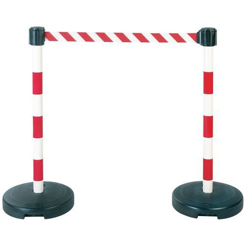 Pack of 2 posts with strap on base — to ballast - Novap