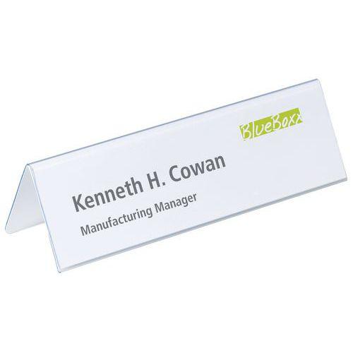 PVC tabletop name holder