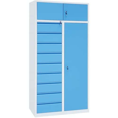 Manutan Large Workshop Storage Cabinet - 1950x940x500mm