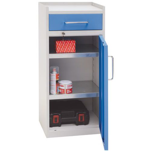 Metal Tool Cupboard with Drawer - HxWxD 980x430x340mm