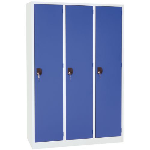 Nest of 3 Lockers with 1 Door on a Plinth - 400mm Wide