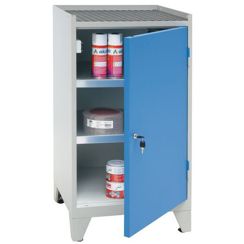Metal Tool Cupboard with 2 Shelves & Feet - HxWxD 1020x533x500mm
