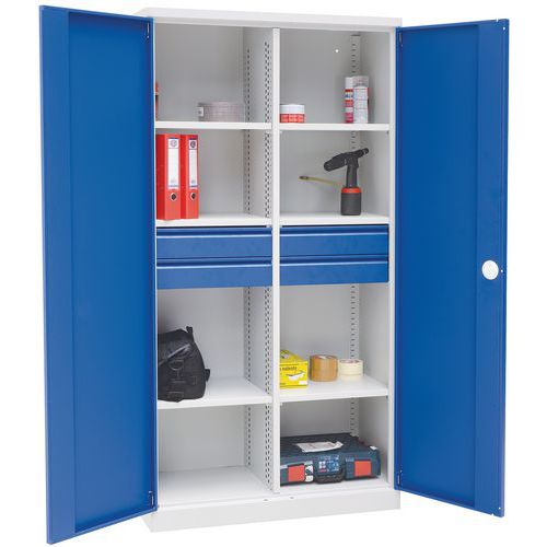 Heavy Duty Tall Wide Compartment Cupboards With Drawers