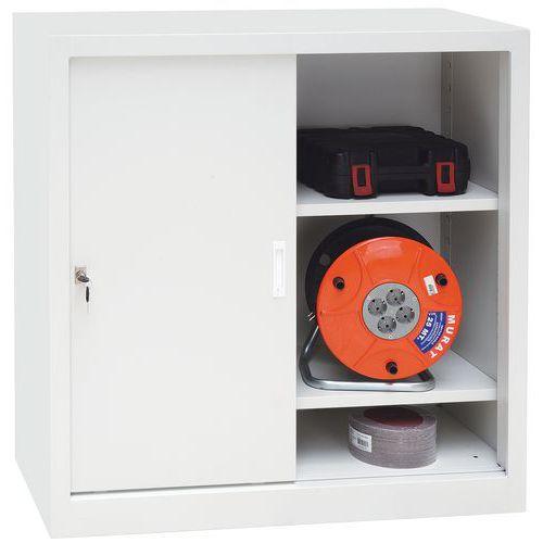 Steel Cupboard with Sliding Doors - Half-Height and 1000mm Wide