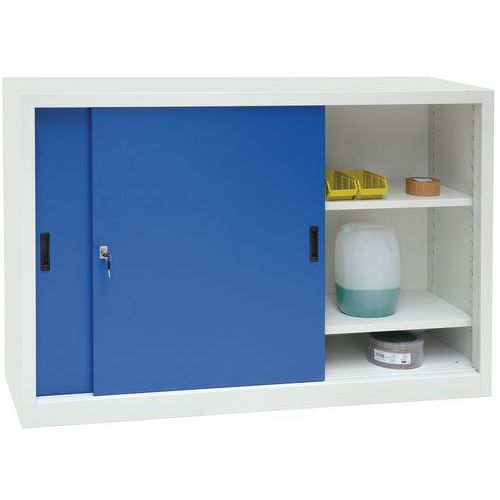 Steel Cupboard with Sliding Doors - Half-Height and 1500mm Wide
