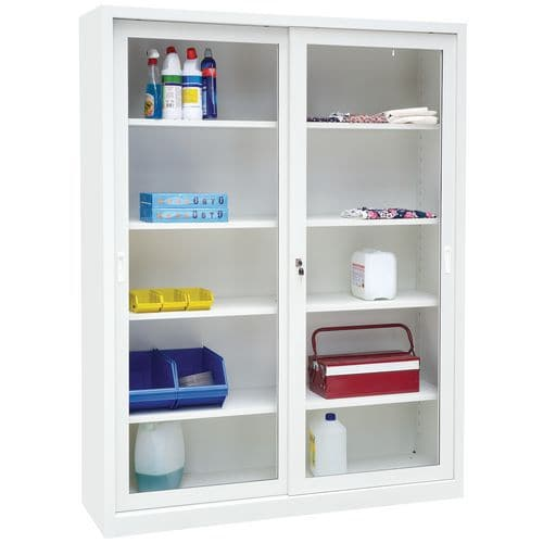Steel Sliding Vision Door Cupboard - HxWXD