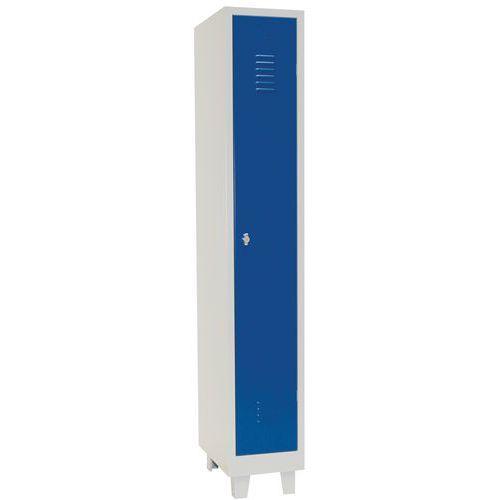 Tall Metal Storage Locker On 4 Feet - Hasp Lock - Manutan