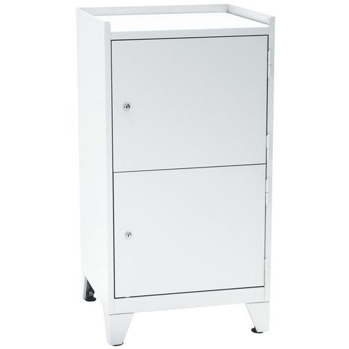 Metal Tool Storage Cupboard with 2 Doors & Feet - HxW 1020x533mm