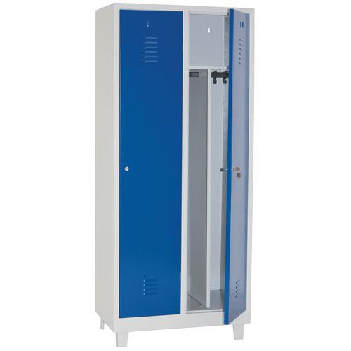Clean & Dirty Locker With Feet and Cylinder Lock 400mm Wide