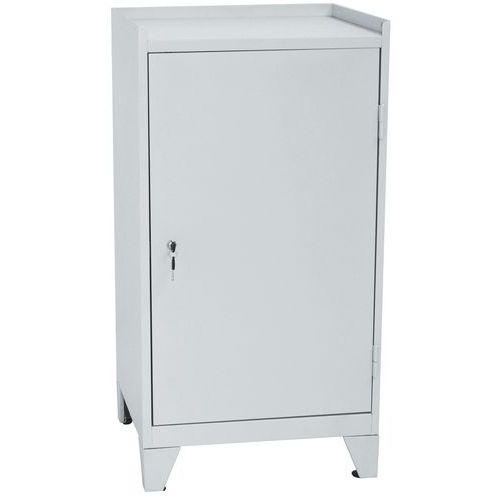 Metal Tool Cupboard with Feet, 1 Drawer & 2 Shelves - HxW 1020x533mm