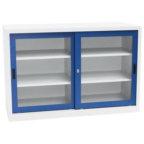 Steel Sliding Vision Door Cupboard - HxWXD 1000x1500x450mm
