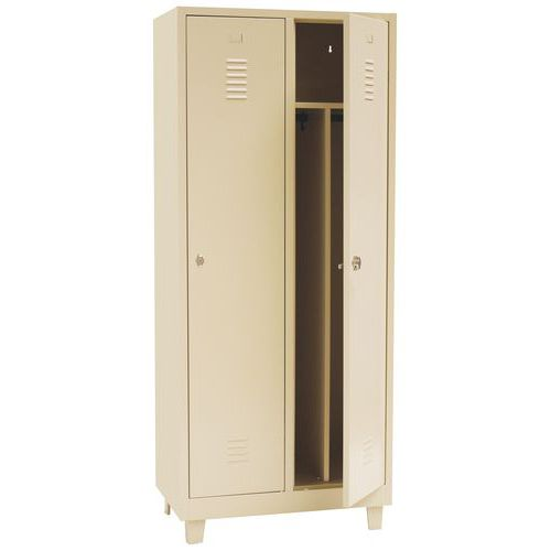Clean & Dirty Locker on Feet With Hasp Lock 400mm Wide