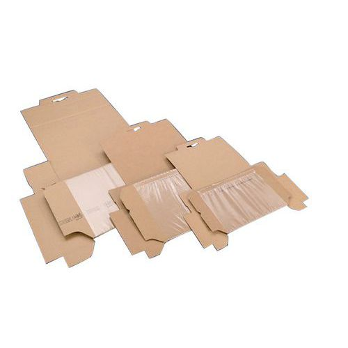 Korrvu cardboard shipping box - With integrated dunnage