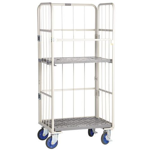 Stackable Pallet Roll Wire Cage Containers - Heavy Duty 500kg UDL