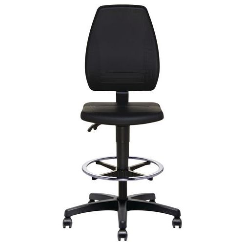 ErgoSupport workshop chair with castors or pads - High version