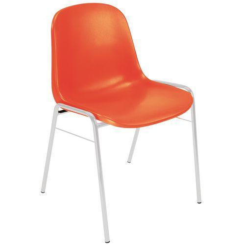 Plastic Stacking Chair - Aluminium Base - Manutan
