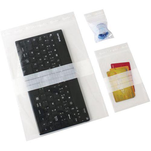 Zip bags - White stripes - 50µm-Manutan