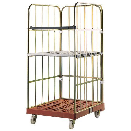 Shelf for mobile container