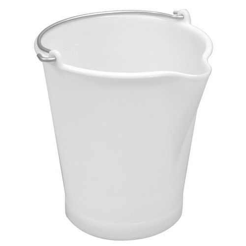 White bucket with pouring spout - 12l - Gilac