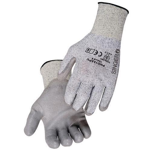 Cut-resistant polyethylene gloves