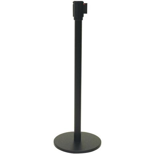 Black Belt Barrier Post With 5M Strap