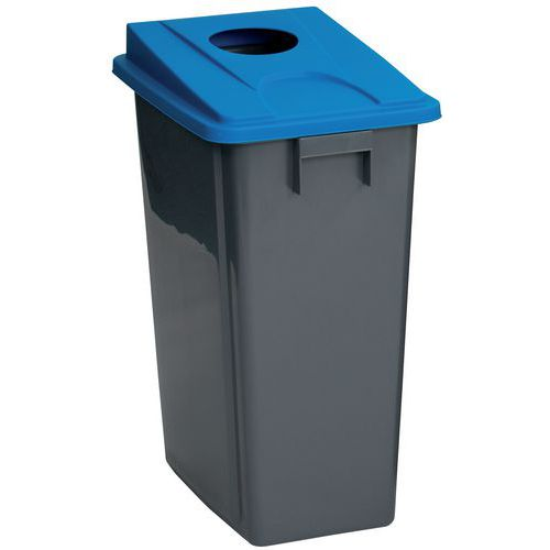 Selective-sorting bin and lid, 60 or 80 L - Manutan
