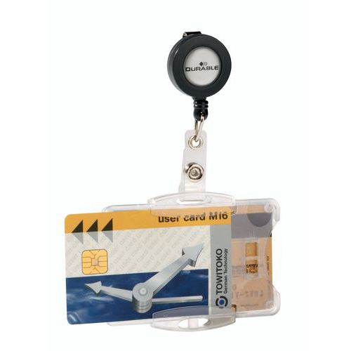 Open badge holder - 1 to 2 cards