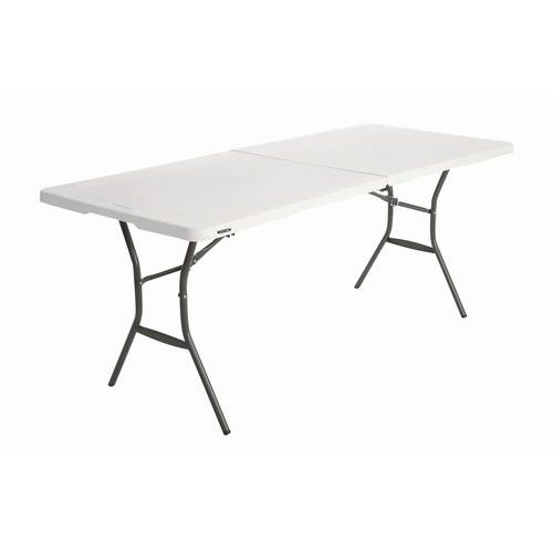 Lifetime rectangular table with case