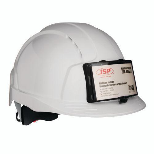 Evolite industrial hard hat with badge holder