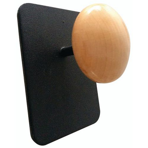 Magnetic metal/wood coat hooks