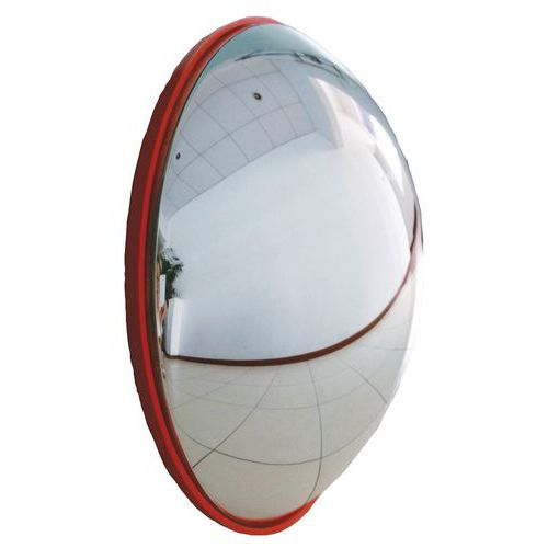 Hemispherical Security Mirrors- Red