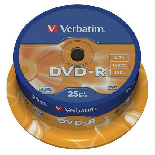 Verbatim DVD-R Matt Silver 16x - pack of 25